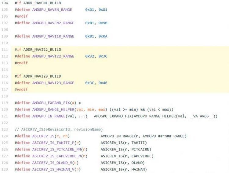 Графические процессоры Navi 22 и Navi 23 упоминаются в драйверах для Linux