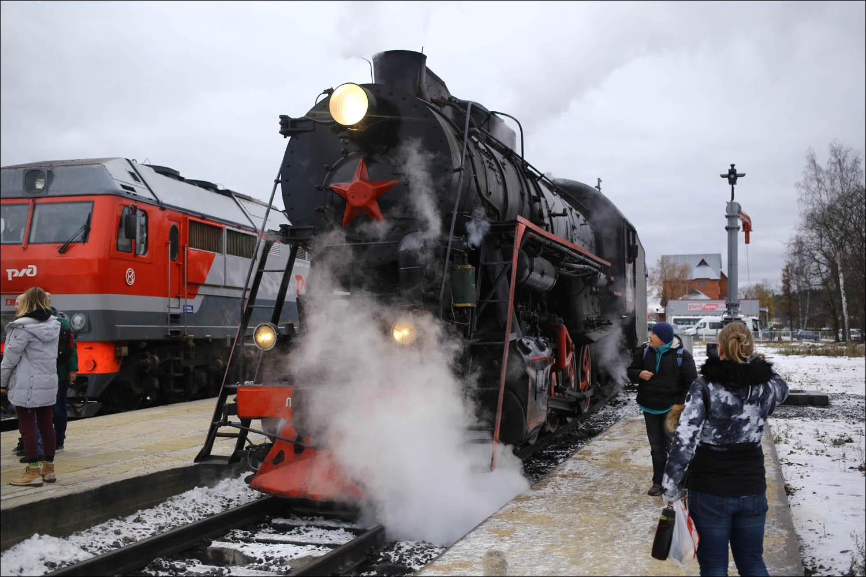 Ретропоезд с паровозом - 10