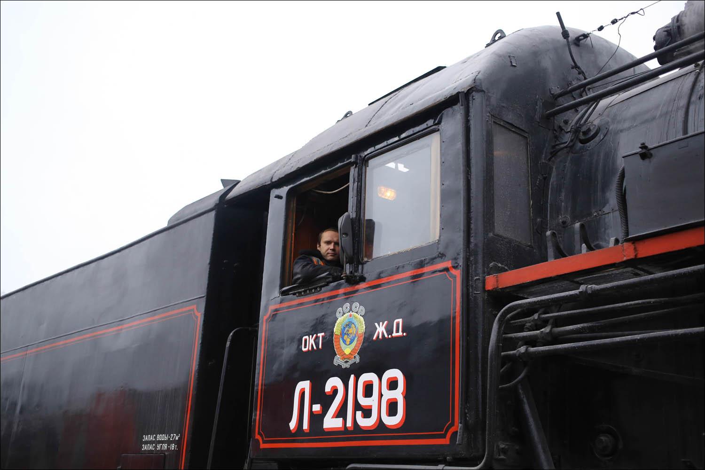 Ретропоезд с паровозом - 16