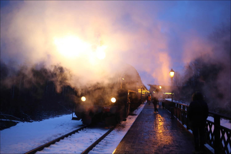 Ретропоезд с паровозом - 66