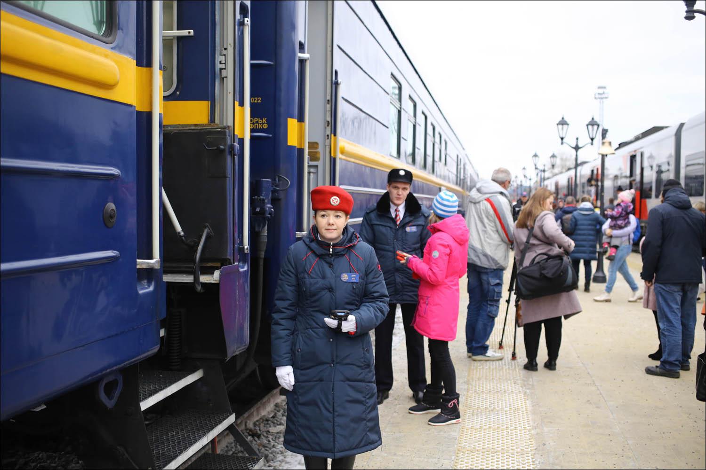 Ретропоезд с паровозом - 8