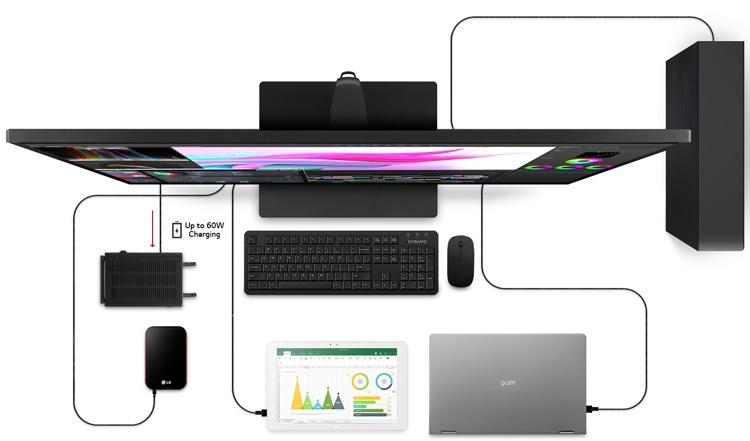 LG 43UN700-B: огромный 4К-монитор с портом USB Type-C и 10-Вт динамиками