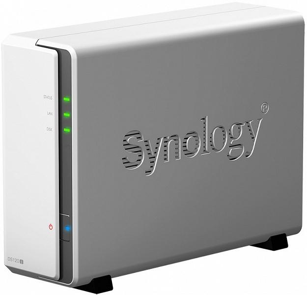 Однодисковое сетевое хранилище Synology DiskStation DS120j предназначено для персонального использования