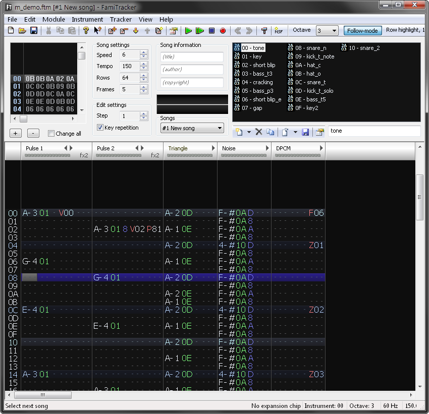 Разработка демо для NES — HEOHdemo - 2