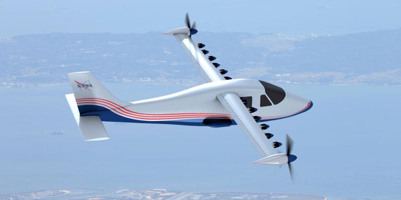 NASA показало свой первый электрический самолет