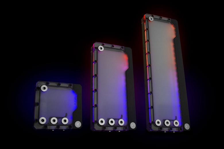 Резервуары EK-Quantum Volume FLT D-RGB по форме напоминают радиаторы