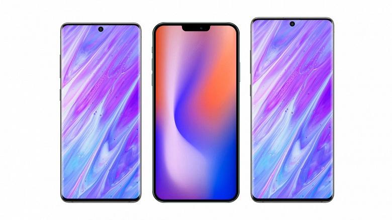 Samsung Galaxy S11 позирует рядом с Galaxy S10 и iPhone Pro Max 2020
