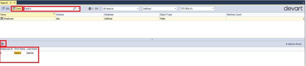 Поиск данных и объектов в базе данных MS SQL Server с помощью бесплатной утилиты dbForge Search - 17
