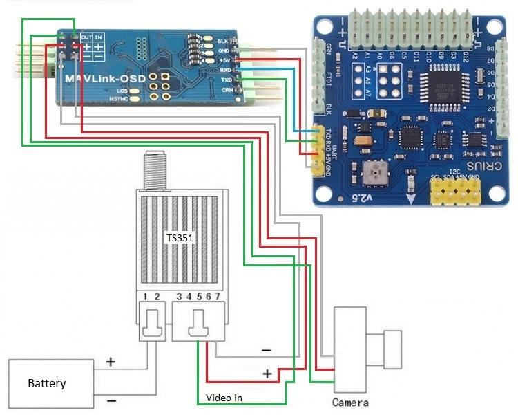 Установка FPV и телеметрии на квадрокоптер - 3