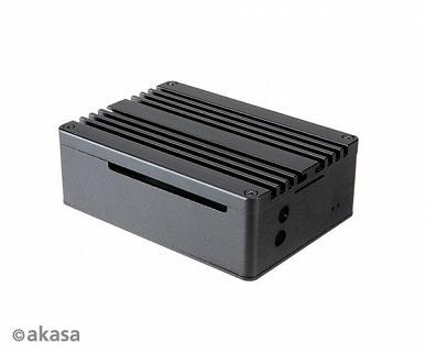 Алюминиевый корпус Akasa Pi-4 для Raspberry Pi 4 одновременно играет роль радиатора