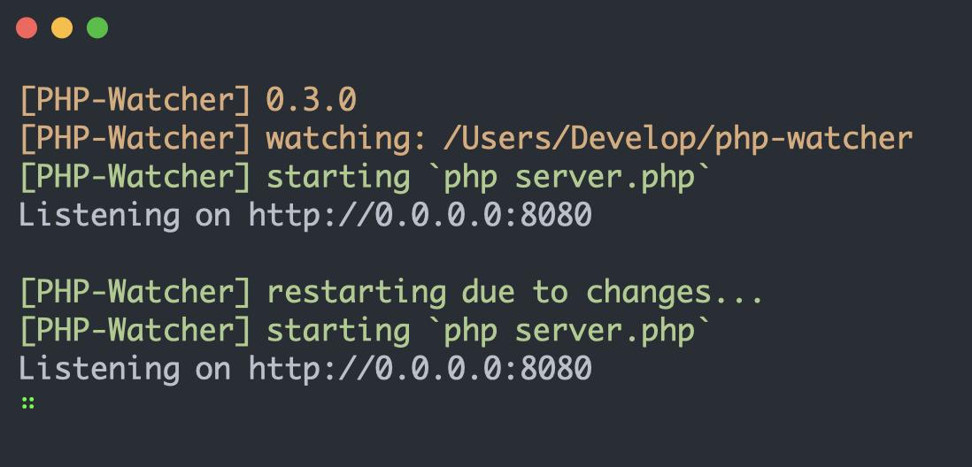 PHP-Watcher: инструмент, который упрощает разработку долгоживущих приложений - 2