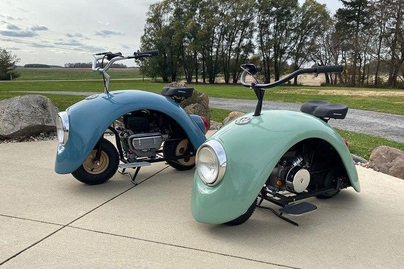 Энтузиаст сделал минибайки в стиле Volkswagen Beetle