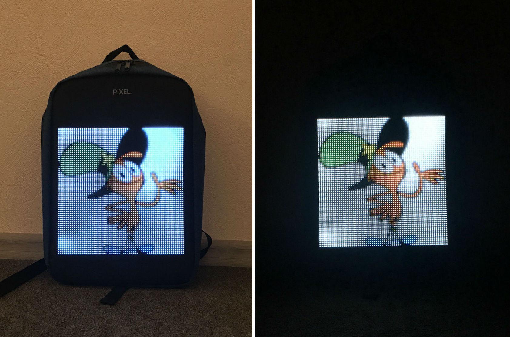 Новое слово в «рюкзакостроении»: встречайте модель с экраном Pixel — мой LED-опыт и впечатления - 27