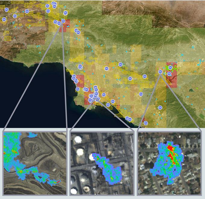 Основные источники метана обнаружены с воздуха