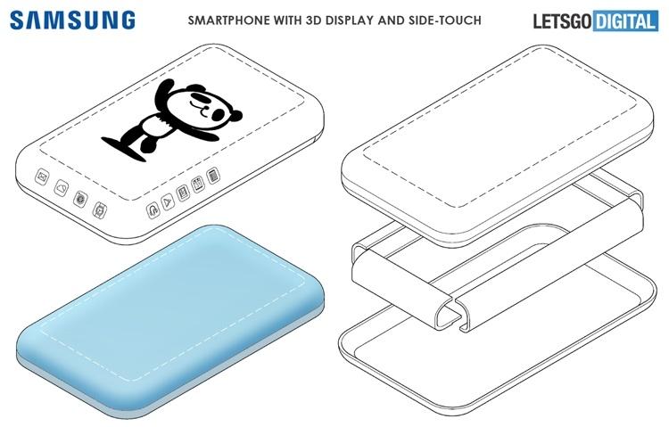 Samsung проектирует смартфон с 3D-дисплеем и технологией Side-Touch