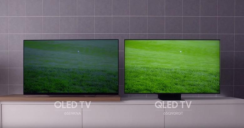 Samsung пытается показать, что телевизоры QLED намного лучше телевизоров OLED