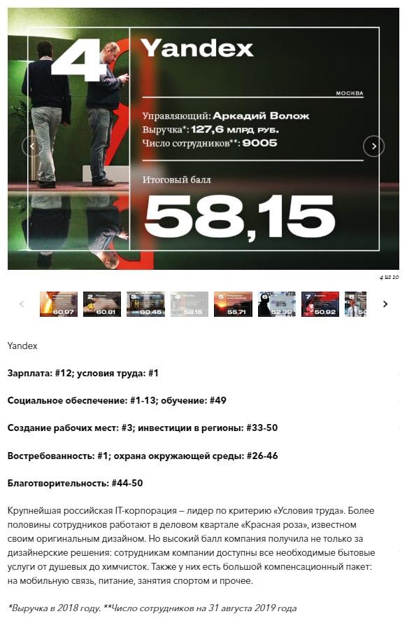 Опубликован рейтинг «50 лучших работодателей России 2019» по версии Forbes - 2