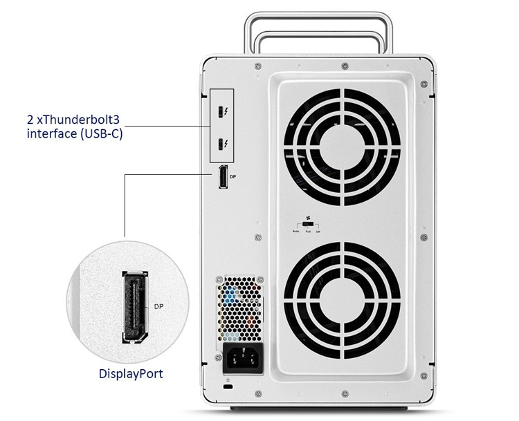 Внешнее хранилище TerraMaster D8 Thunderbolt 3 рассчитано на восемь накопителей