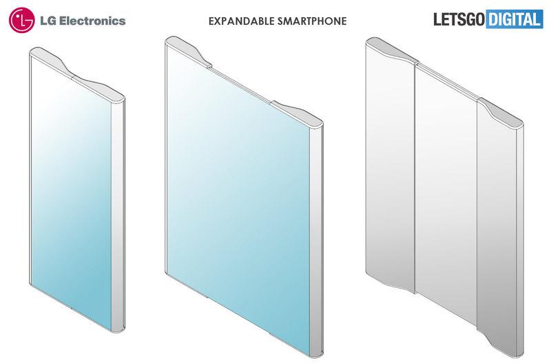 LG запатентовала смартфон с расширяющимся экраном
