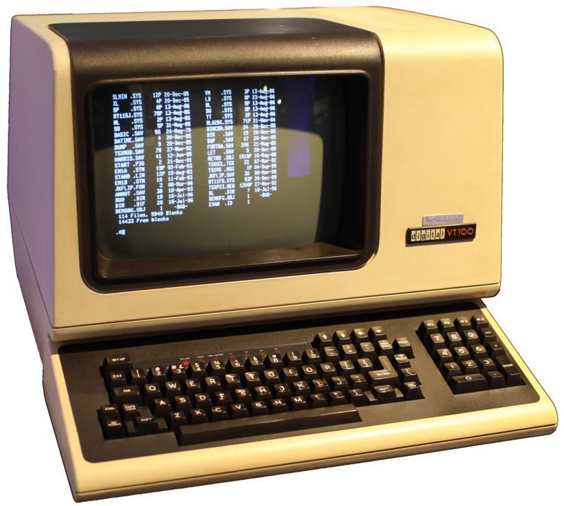 IBM, память на линиях задержки и история дисплея 80×24 символа - 1