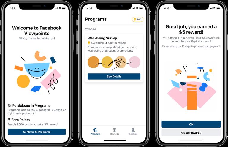 Facebook представила Viewpoints — приложение, в котором пользователю платят за участие в опросах - 1