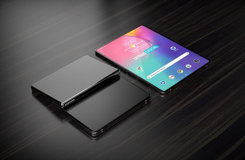 Так будет выглядеть гибкий планшет Samsung Galaxy Fold