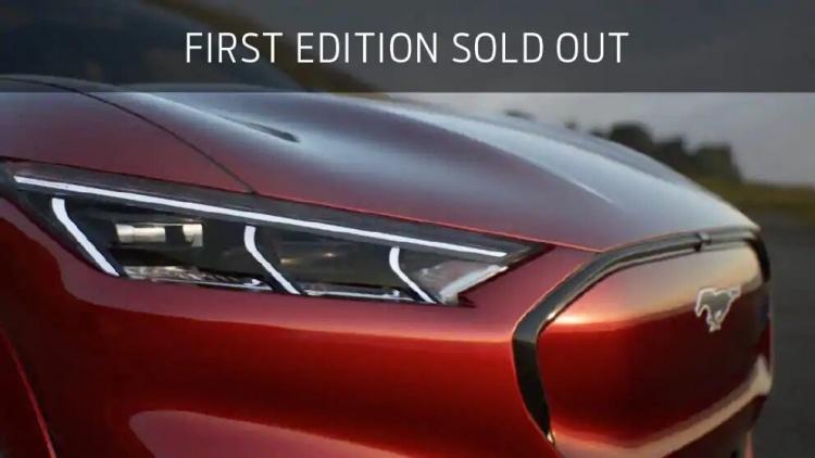 Ограниченная партия электромобилей Ford Mustang Mach E First Edition распродана за год до выхода