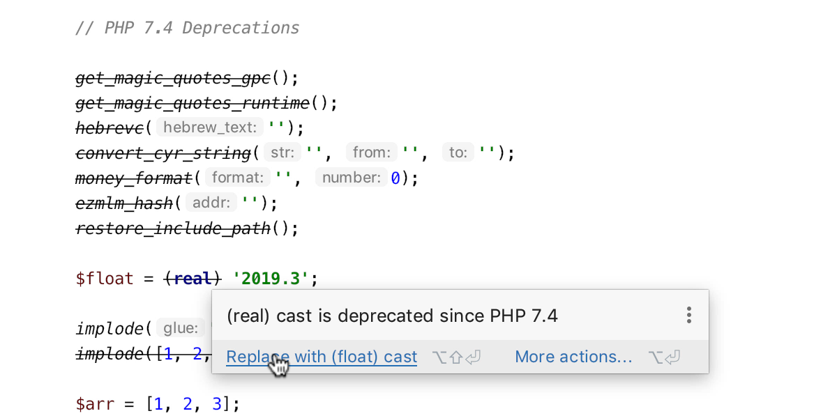 PhpStorm 2019.3: поддержка PHP 7.4, PSR-12, WSL, MongoDB и многое другое - 16