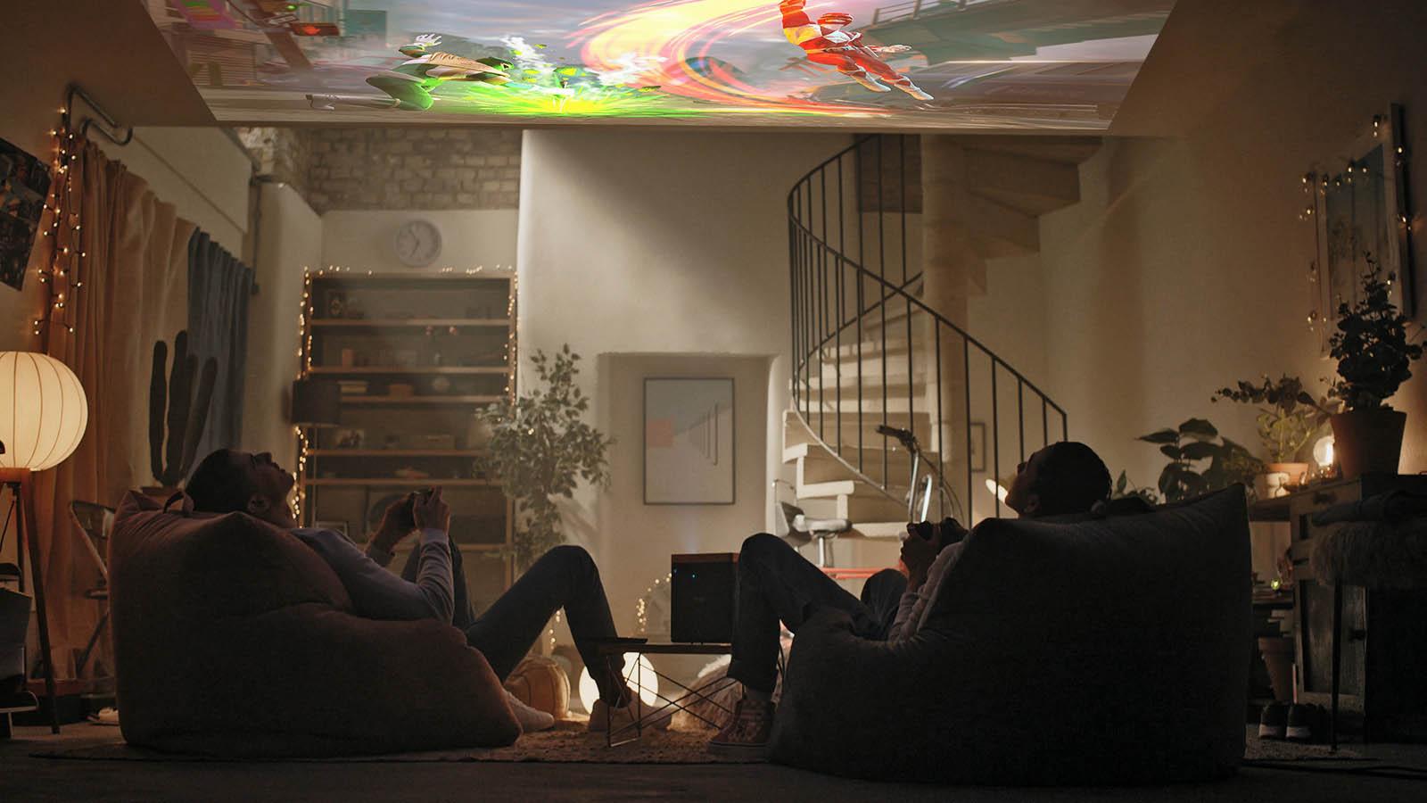 Проекция на потолок: впечатления после недели использования проектора, поставленного «на торец» - 1
