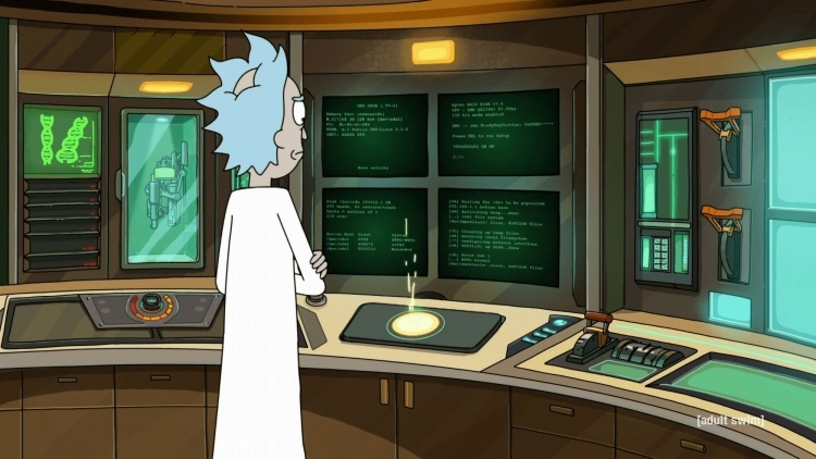 Герой мультсериала «Рик и Морти» использует 128-бит ЦП AMD и 3 584 825 Тбайт ОЗУ