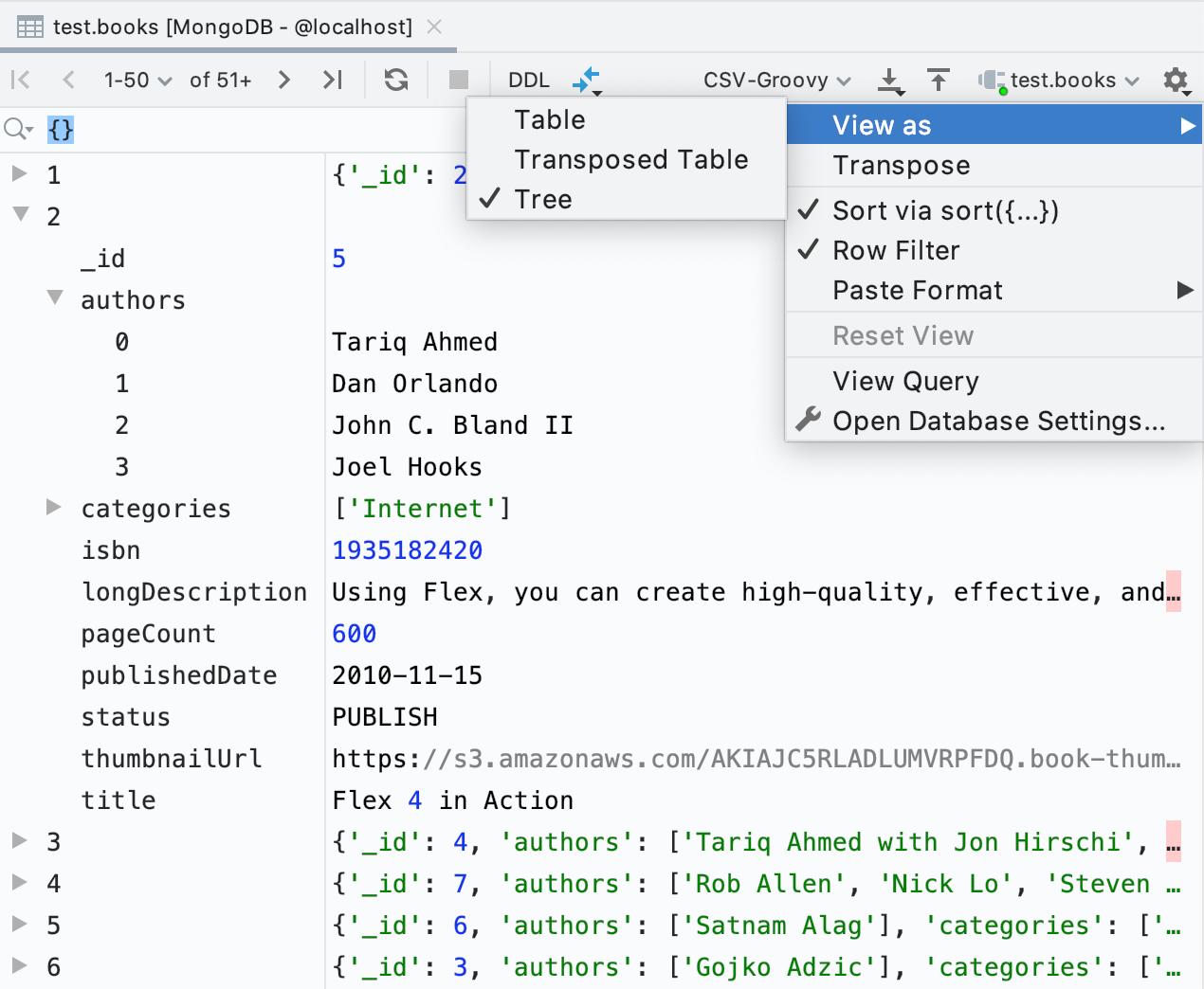 DataGrip 2019.3: MongoDB, дебаггер, модный прогресс-бар, много новых инспекций - 4