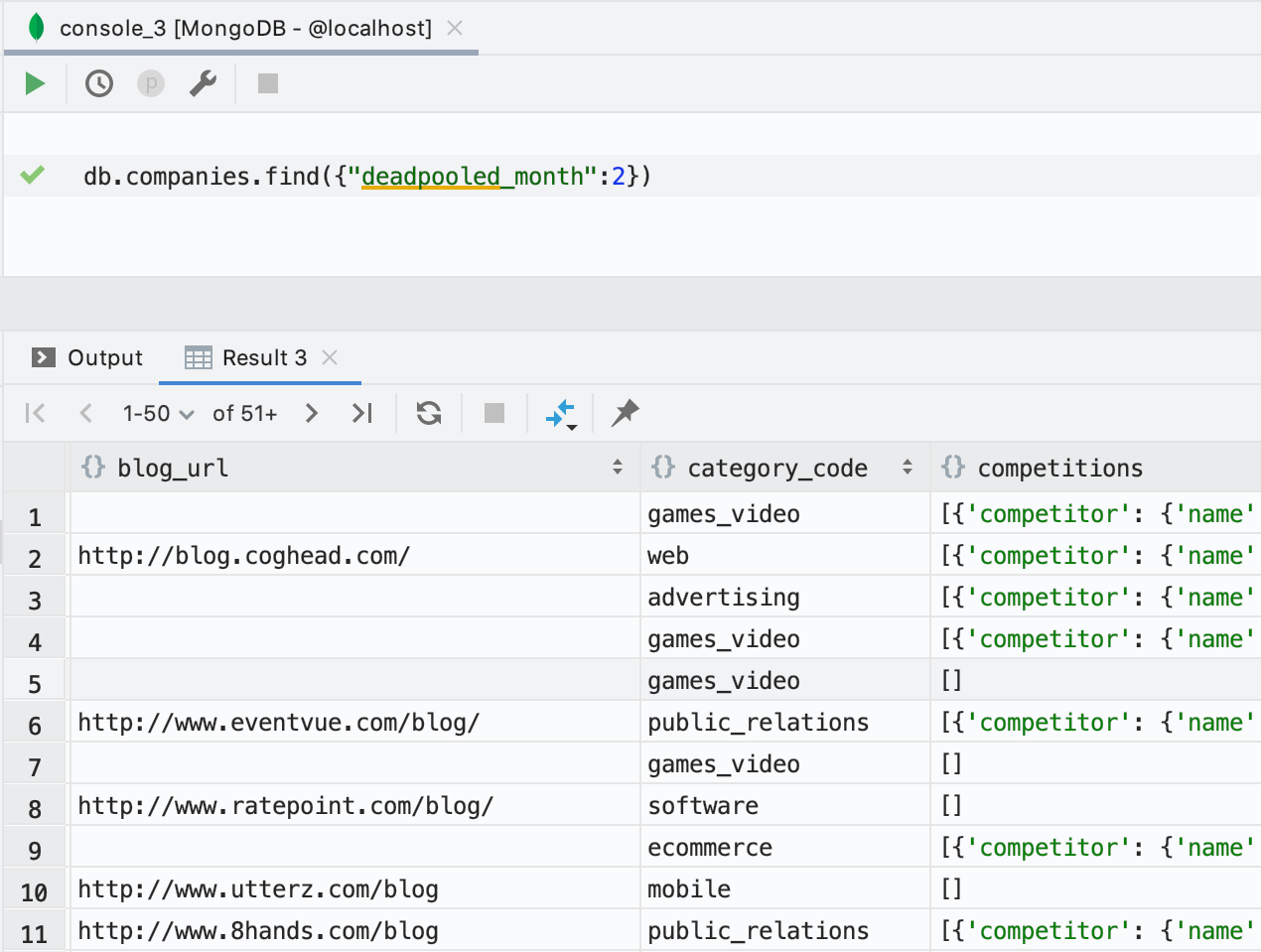 DataGrip 2019.3: MongoDB, дебаггер, модный прогресс-бар, много новых инспекций - 5