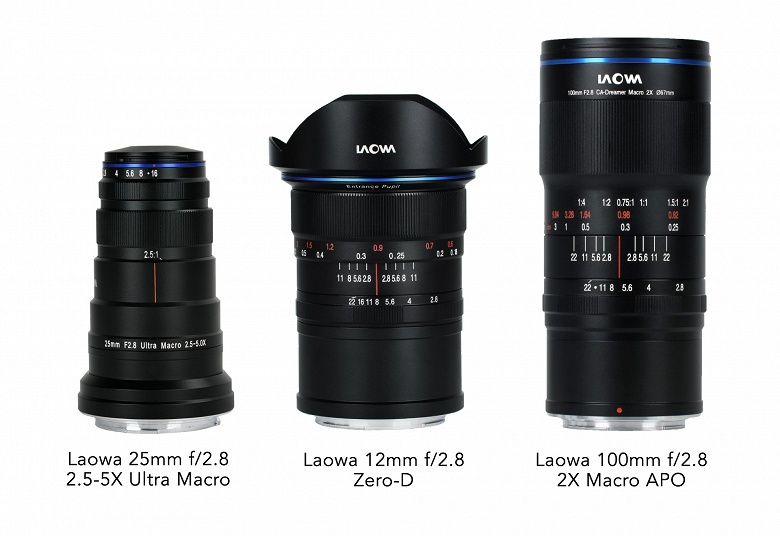 Три модели объективов Laowa стали доступны в вариантах с креплениями Canon RF и Nikon Z