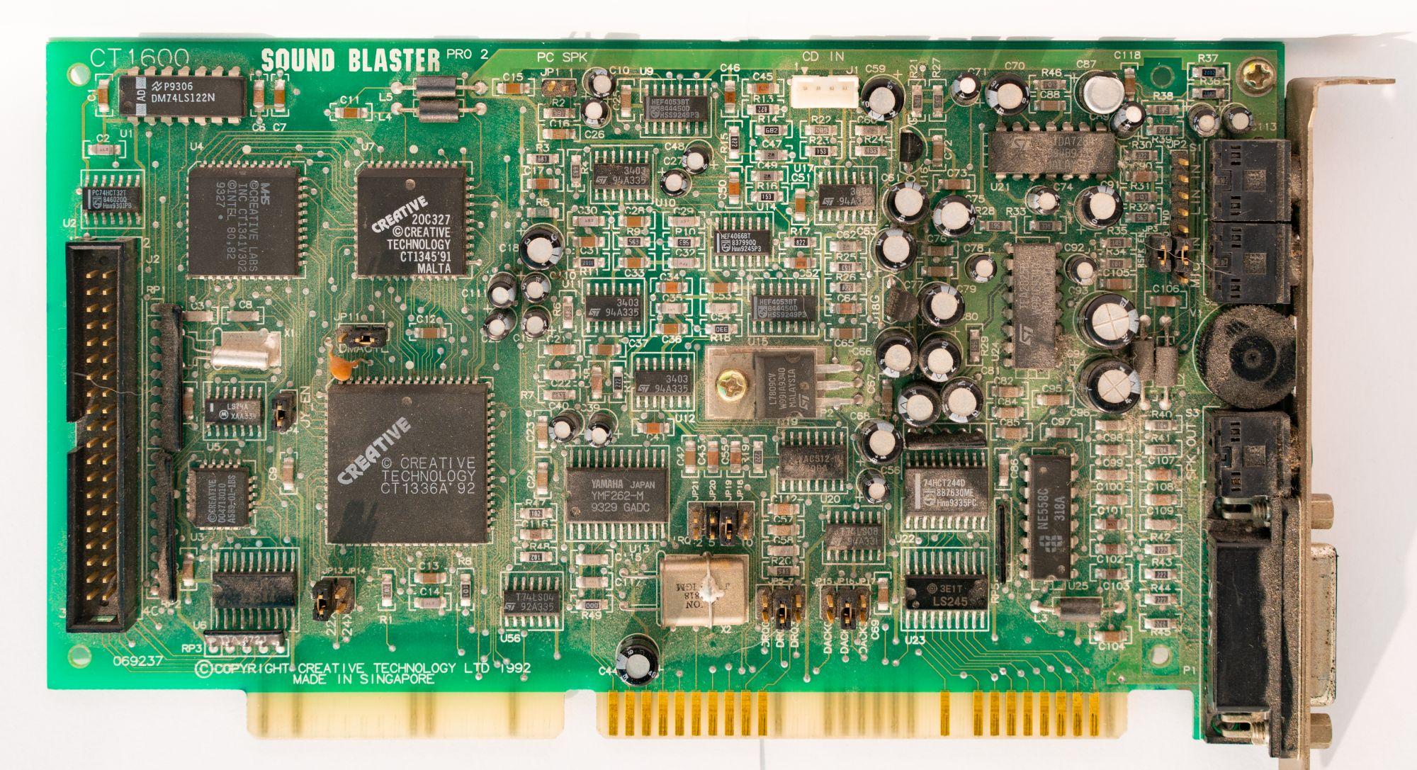 Древности: чем хуже, тем лучше или особенности Sound Blaster Pro 2 - 4