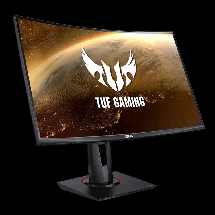 Монитор ASUS TUF Gaming VG27WQ имеет вогнутую форму