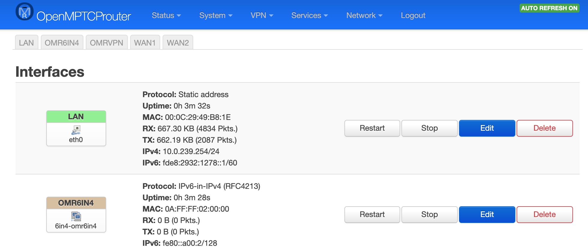 Настоящее суммирование интернет-каналов — OpenMPTCPRouter - 11