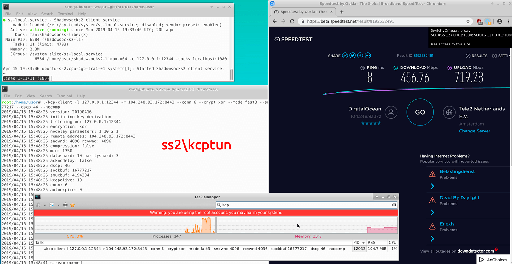 Сравнение производительности инструментов обхода блокировок-VPN - 25