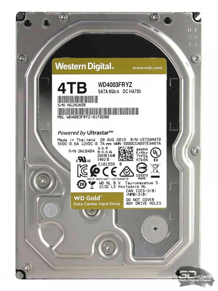 Новая статья: Обзор жесткого диска WD Gold 4 Тбайт (WD4003FRYZ): для ЦОДа и для дома