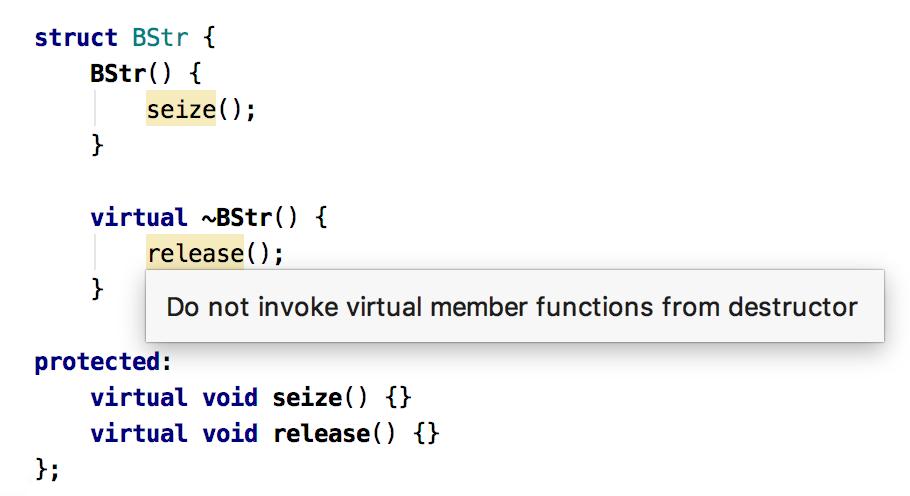 Code analysis: virtual