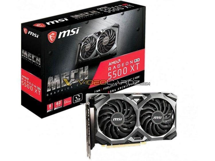 MSI готовит видеокарты Radeon RX 5500 XT Mech и RX 5500 XT Gaming X