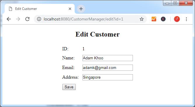 Пишем простое веб-приложение используя Spring MVC, Spring Data JPA и Hibernate - 6