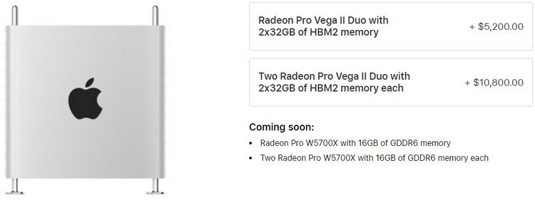 AMD Radeon Pro W5700X: профессиональная версия Radeon RX 5700 XT для Mac Pro