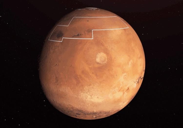 В NASA создали карту залежей водяного льда на Марсе