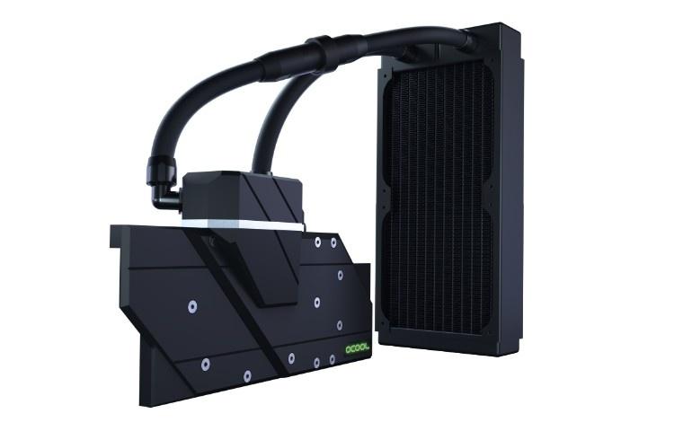 Alphacool Eiswolf Aurora: необслуживаемая СЖО для видеокарт с водоблоком полного покрытия