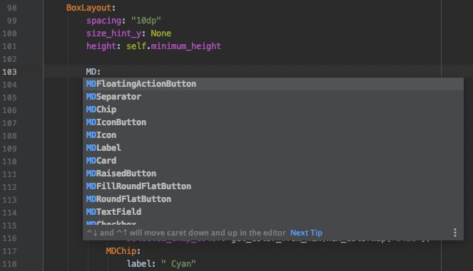 Разработка мобильных приложений на Python. Библиотека KivyMD - 28