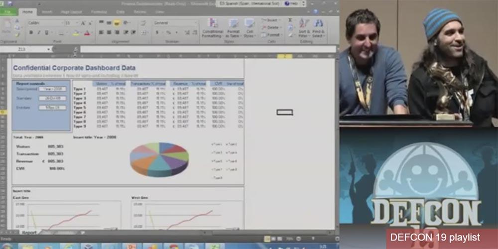 Конференция DEFCON 19. Начальство любит Excel, хакеры тоже - 16