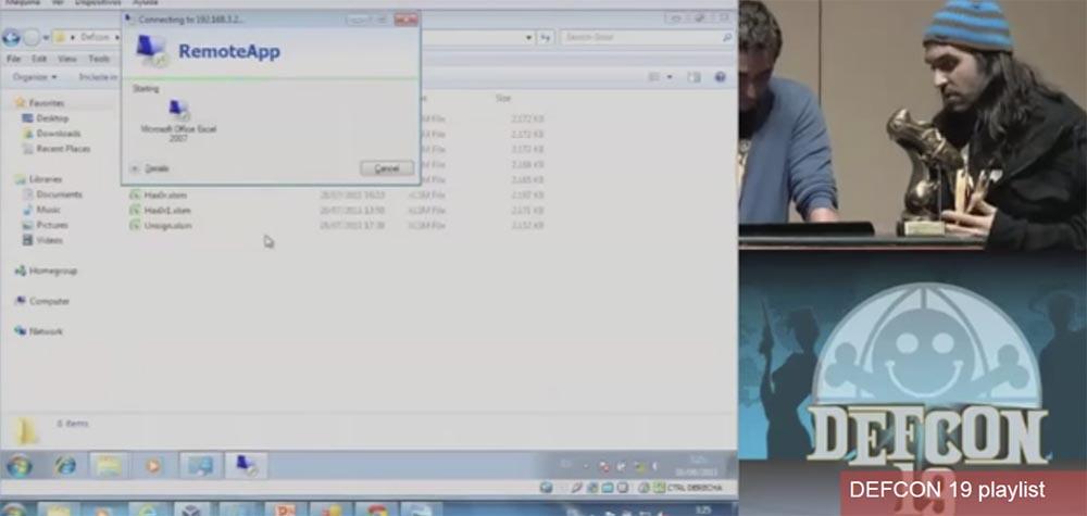 Конференция DEFCON 19. Начальство любит Excel, хакеры тоже - 19
