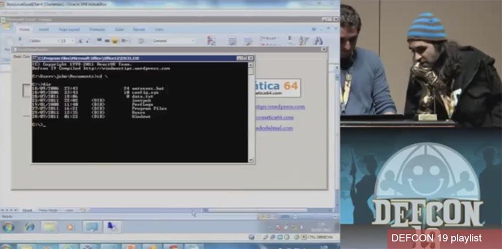 Конференция DEFCON 19. Начальство любит Excel, хакеры тоже - 23