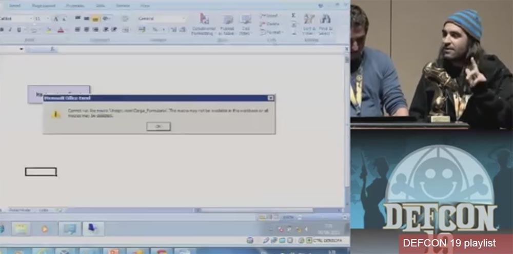 Конференция DEFCON 19. Начальство любит Excel, хакеры тоже - 26