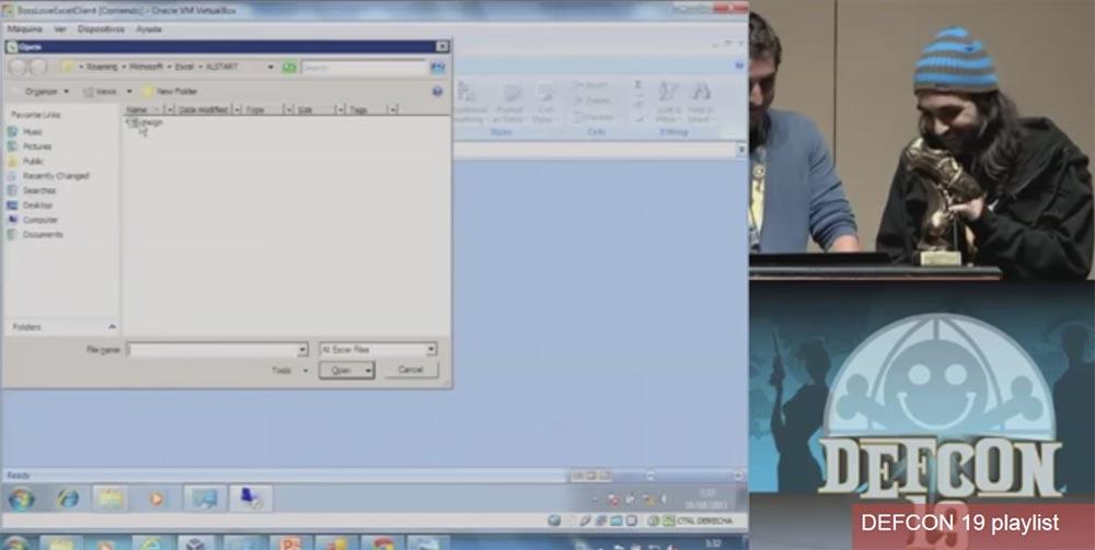 Конференция DEFCON 19. Начальство любит Excel, хакеры тоже - 27